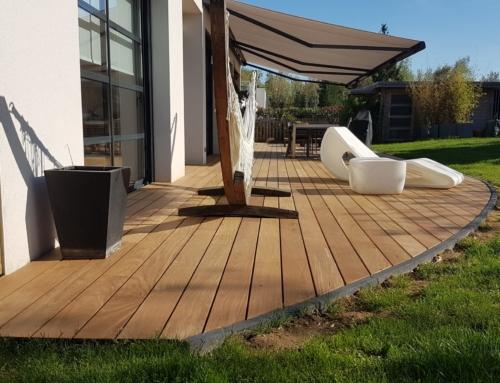 Terrasse en bois Ipé sur dalle béton à Marly en Moselle